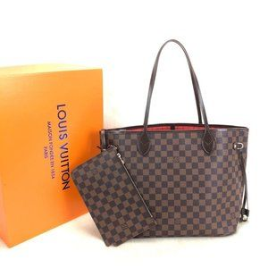 Louis Vuitton Neverfull %100 genuine leather brown